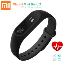 Xiaomi Mi Band 2 Miband Smart Wristband Bracelet with Heart Rate Monitor Pedometer Fitness OLED Display for Android 4.4 IOS 7.0