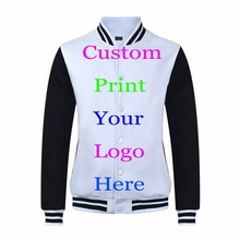 Heat Transfer Silk Screen Print Customized Logos Baseball Jacket custom Print Embroidery Professional design Promotional Jacket