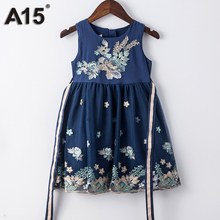 A15 Fashion Princess Dress Girl Costume 3 Year Old Girl Dress Summer 2017 High Quality Party Kids Clothes Girl 4 Year Age 6 8 10