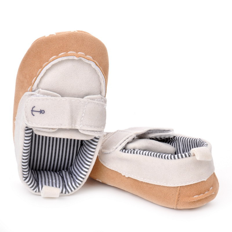 17 Fashion Newborn Baby Girl Boy Shoes Soft Sole Infantil Toddler Baby Boy Sneakers Blue Baby Mocassins Crib Peas Flock Shoes 7