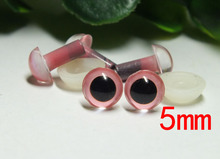 5mm Stuffed Animals eyes Amigurumi eyes Plastic eyes pink Color eyes Toy eyes-100pcs