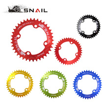 SNAIL 104BCD Round Chainring MTB Bicycle 32T/34T/36T/38T Narrow Wide Chainwheel 7075 Aluminium Circle Crankset Chain Wheel Plate