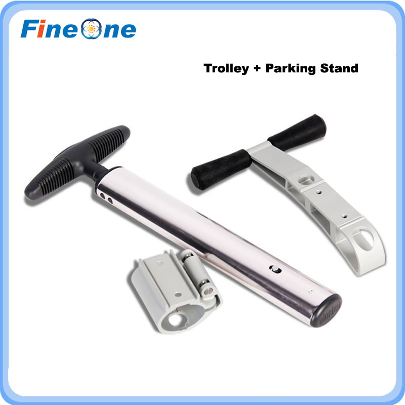 2017 Original Ninbot ONE Trolley Handle Ninbot E+ Pulling Rod Handle Bar with Parking Stand Training Learning Scooter Wheels<br><br>Aliexpress