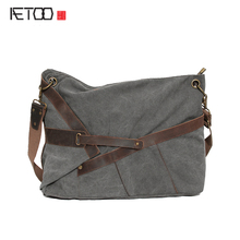 AETOO The new canvas bag retro mad horse with 20 An plus thick wash canvas a generation of Europe and the United States retro st