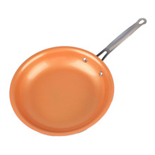 New 11 Inch Kitchen Non-stick Copper Frying Pan with Ceramic Coating and Induction Cooking Oven Safe Cookware Pan #249027(China)