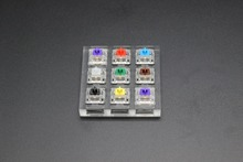 9 key Cherry Gateron Green Clear White Gray Clear Zealio Purple Switches Shaft Testing Tool Switch Tester