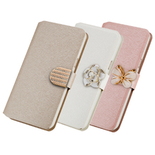 Lots style For Explay Fresh mobile phone case new luxury flip cover with three kinds of diamond buckle