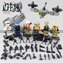 6pcs Wolf Warriors MILITARY Army World War SWAT Soldiers Weapon Special Forces Navy Seals Building Blocks Compatible With legoe