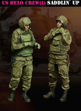 Unpainted Kit 1/35  Vietnam war  U.S. Helo war crew set   figure Historical WWII Figure Resin Kit miniatures  Model Kit