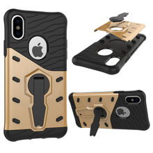 Buy Rugged Armor Shockproof Case Apple iPhone 8 Dual Layer Hybrid Stand Holder Cover iPhone8 8 Mobile Phone Accesories Case for $3.49 in AliExpress store