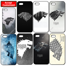 New House Stark Game of Throne Cover Case for iPhone 4 4S 5 5S SE 5C 6 6S 7 8 Plus iPod Touch 5 LG G2 G3 G4 G5 G6