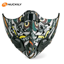 NUCKILY Winter Face Mask Dustproof Windproof Breathable Hiking Skiing Mask Sport Women Men Bike Bicycle Cycling Face Mask