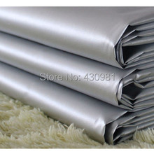 2m/lot silver coated fabric 300T nylon taffeta car cover curtain outdoor fabric heat water proof(China)