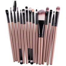 15 pcs/Sets Eye Shadow Brush Foundation Eyebrow Lip Brush Women Ladies Beauty Professional Makeup Cosmetic Brushes Tool