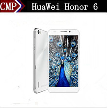 Original HuaWei Honor 6 4G LTE Mobile Phone Kirin 920 Octa Core Android 4.4 5 Inch IPS 1920X1080 3GB RAM 32GB ROM 13.0MP