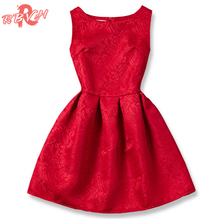 Summer Brand 2017 Princess Girl Dress Red Kids Clothes Dresses for Girl Children Clothing Teenager Party Costumes9 10 11 12 Year(China)