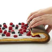 Silicone triple Features large cake mold/Environmentally durable baking pan swiss roll tool cake accessories(China)