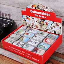 Zakka Storage Box Decoration Collection Display Candy Pill Chutty Mini Storage Metal Vintage Cartoon Tin Box 5.5*4*2.5cm
