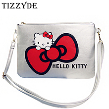 Women Messenger Bag 2017 Cartoon Clutch Bag Hello Kitty Crossbody Bag Fashion Women Shoulder Bags Simple Handbags CCN801(China)