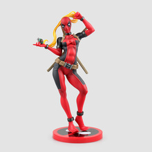 23.5cm Crazy Toys X-men Lady Deadpool Bishoujo Statue Doll PVC Action Figure Collectible Model Toy