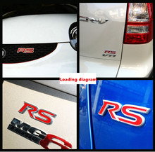 Trunk EMBLEM RS movement modified logo car styling auto labeling. Metal  3d labeling personalized stickers all models