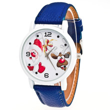 Top Brand Santa Claus Cartoon Watch Women Ladies Girls Female Clock Christmas Quartz-watch Montre Femme Relogio Feminino S9122