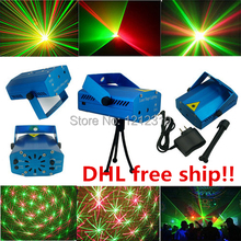 Fashionable products Portable Mini Laser Stage Lighting Projector Disco Party DJ Bar Club KTV Light 24pcs free drop shipping