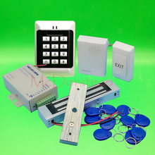DIY Full Keypad Rfid Door Access control system 350lbs 180kg Electric magnetic Lock +Power supply+exit button+keyfobs