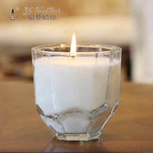 Imported natural essential oils aromatherapy birthday candle smokeless glass Scented Candle wedding decor candle making