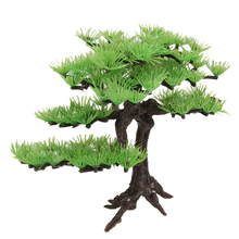 Artificial Plant Plstic Pine Tree Aquarium Fish Tank Rockery Bonsai Accessories Hotel Ornament Decor(China)