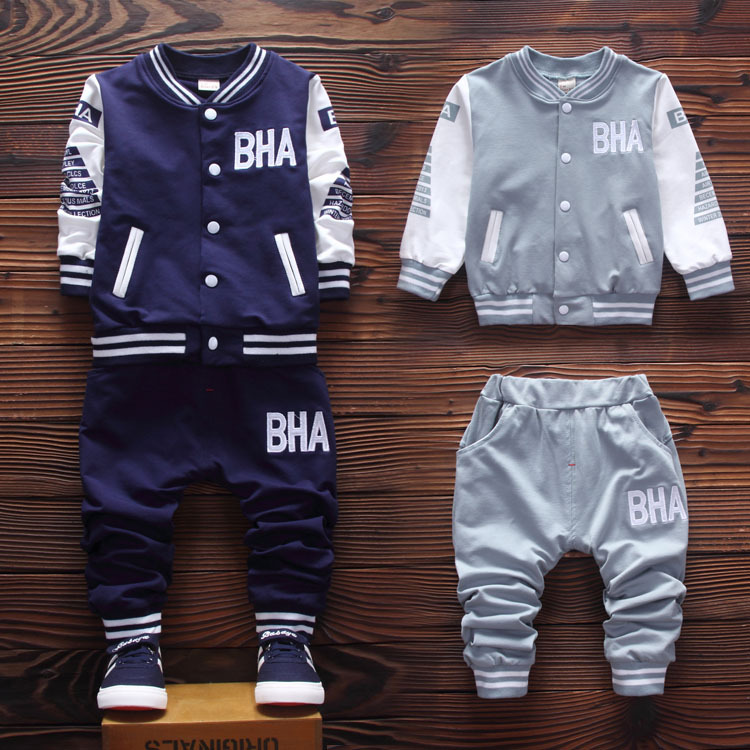 2017 Autumn new children clothing set cotton jacket with casual  pants baby boys clothes A073<br><br>Aliexpress