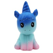 Novelty Anti Stress Kawaii Unicorn Style Squishi Toy Soft Foam Relief Slow Rising Doll Animal Collectibles Unicorns Toys(China)