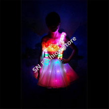 TC-142 Full color LED costumes wedding dress cloth programming design ballroom dance RGB  light singer party dj disco wear