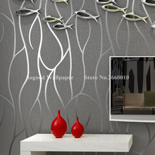High Quality Suede Thickening Modern Gray&Silver Stripe Wallpaper For Walls/Bedroom Living Room TV Background Fashion Wall Paper
