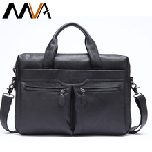 MVA Messenger Bag Leather Men Genuine Leather Bag Business Men's Briefcases Handbag Leather Laptop Bag Totes Men Crossbody Bags