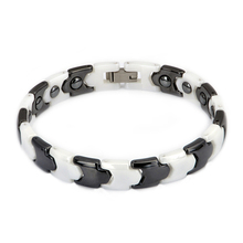 Top Selling White Black Ceramic Bracelet for Women Bio Health Element Energy Bracelet&Bangle Magnetic Hematite Jewelry Accessory