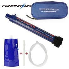 Water Filtration Kit Portable Outdoor Camping Hiking Survival Purifier Filter with Extension Tube and Water Pouch(China)