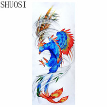 SHUOSI Animal Phoenix DIY Diamond Embroidery 5D Diamond Painting Cross Stitch Mosaic Pattern Full Round Rhinestone Home Decor(China)