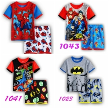 New summer Baby Sleepwears spider-man Suits Boys Pajamas Children Pyjamas Girls Cartoon short sleeve Pijamas