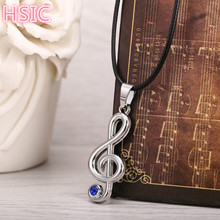 Buy HSIC 10pcs/lot Anime Musical Note Logo Pendant Hatsune Miku Silver Metal Necklace Rope Chain Fans Cosplay Accessories10461 for $15.46 in AliExpress store
