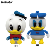 Cartoon Donald Duck Pen Drive USB Flash Drive Memory Stick 4GB 8GB 16GB 32GB 64GB Pendrive Thumb Drive Hot Salling