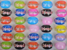 Mix Wholesale 20Pcs/lot Best Friends Resin Rings for Children Kids Jewellery Lot Resin Friendship Rings for Kids Party Xmas Gift(China)