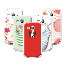 2016 Fashion Fruit Art printed Case For Samsung Galaxy S3 mini i8190 8190 Case Cover For Samsung Galaxy S 3 mini Case+stylus