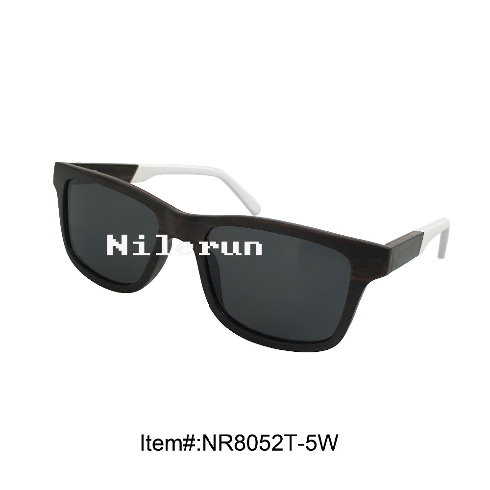 ebony wood sunglasses with white acetate temples<br><br>Aliexpress