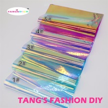 5pcs--20x23cm laser color clear PVC /Transparent  PVC/clear fabric