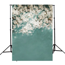 5x7ft vinyl Photography Background For Studio Photo Props White Flower Virtual Indoor Photographic Backdrops 1.5x 2.1m
