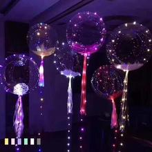 Colorful Bobo Balloons LED Light Up Balloon Luminous Bubble Balloon for Wedding Christmas Birthday Party Decoration 15(China)