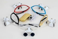 3.5x Dental surgical magnifying glass colorful Dental surgical loupes with led head light