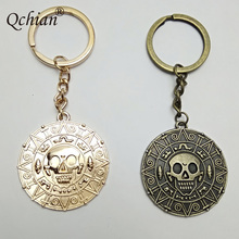 Pirates Of the Caribbean Aztec coins Metal Model Automobiles Keychain And Bag Pendant Jewelry Keyring Beautiful Gift(China)