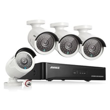 ANNKE 4CH 1080P CCTV System POE NVR 1080P Video Output 4PCS 3000TVL 2.0 mp CCTV IP Camera Home Security Surveillance Kits